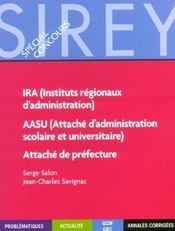 Ira ; Attache De Prefecture ; Aasu - Intérieur - Format classique