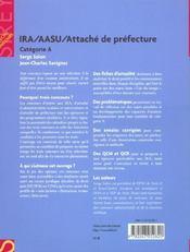 Ira ; Attache De Prefecture ; Aasu - 4ème de couverture - Format classique