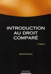 Introduction au droit comparé (3e édition) - Intérieur - Format classique