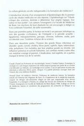 Histoire De La Medecine Introduction A L'Epistemologie - 4ème de couverture - Format classique