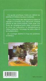Les plantes vertes - 4ème de couverture - Format classique