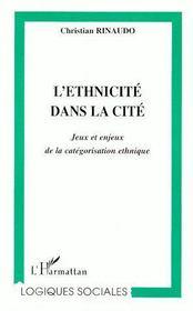 L'ethnicité dans la cité ; jeux et enjeux de la catégorisation ethnique - Couverture - Format classique