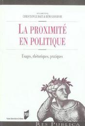 Proximite en politique - Intérieur - Format classique