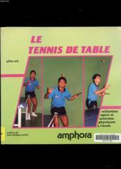 Le Tennis De Table - Couverture - Format classique