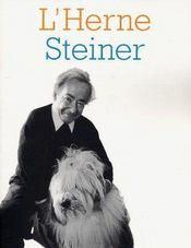 Les Cahiers De L'Herne T.80 ; Steiner - Couverture - Format classique