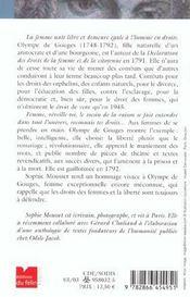 Olympe de gouges - 4ème de couverture - Format classique