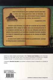 Journal de guerre, 1915-1918 - 4ème de couverture - Format classique