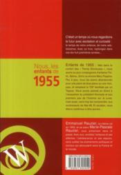 Nous, Les Enfants De 1955 ; De La Naissance A L'Age Adulte - 4ème de couverture - Format classique