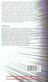 Revue Europe ; Hors Série ; Le Premier Roman - 4ème de couverture - Format classique