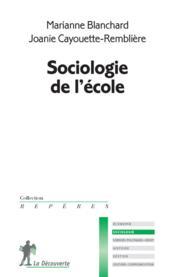 Sociologie de l'école - Couverture - Format classique