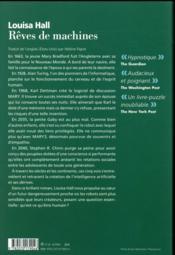 Rêves de machines - 4ème de couverture - Format classique