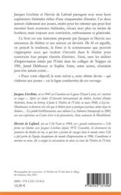 Conseils du théâtre de l'unité à ne pas suivre ; lettre à Charlotte - 4ème de couverture - Format classique