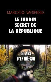 Le jardin secret de la République - Couverture - Format classique