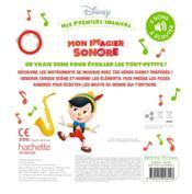 Mes premiers imagiers ; Disney Baby ; mon imagier sonore ; les instruments - 4ème de couverture - Format classique