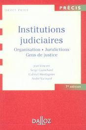 Institutions Judiciaires ; Organisation. Juridictions. Gens De Justice - Intérieur - Format classique