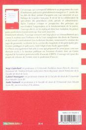Institutions Judiciaires ; Organisation. Juridictions. Gens De Justice - 4ème de couverture - Format classique