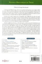 La définition prétorienne ; étude en droit du travail - 4ème de couverture - Format classique