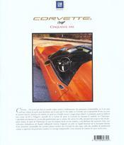 Corvette 50 Ans Le Livre Officiel - 4ème de couverture - Format classique