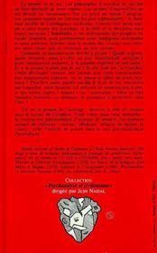 La pensée et le trauma ; entre psychanalyse et philosophie - 4ème de couverture - Format classique