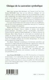 Clinique De La Castration Symbolique - 4ème de couverture - Format classique