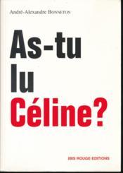 As-tu lu Céline ? - Couverture - Format classique