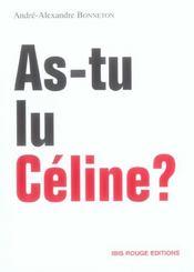 As-tu lu Céline ? - Intérieur - Format classique
