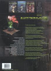 Witness 4 t.3 ; en vert et contre tous ? - 4ème de couverture - Format classique