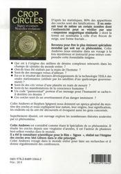 Crop circles ; signes et contacts, nouvelles révélations - 4ème de couverture - Format classique