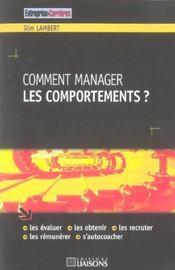 Comment Manager Les Comportements - Intérieur - Format classique