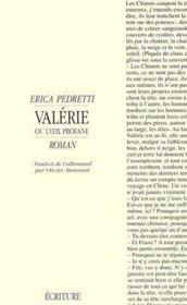 Valerie - Couverture - Format classique