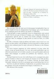 Paysan Et Maitre D'Ecole - 4ème de couverture - Format classique