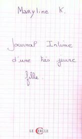 Journal Intime D'Une Tres Jeune Fille - Intérieur - Format classique