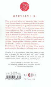 Journal Intime D'Une Tres Jeune Fille - 4ème de couverture - Format classique