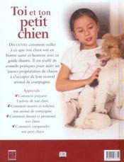 Toi et ton petit chien - 4ème de couverture - Format classique