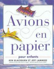 Avions en papier pour enfants - Intérieur - Format classique