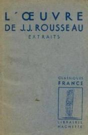 L'oeuvre de J. J. Rousseau - Couverture - Format classique