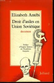 Droit D Asiles En Union Sovietique. - Couverture - Format classique
