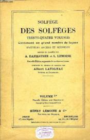 Solfege Des Solfeges Volume 3b - Couverture - Format classique