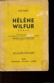 Helene Wilfur - Couverture - Format classique