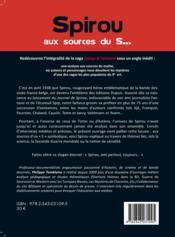 Spirou aux sources du s... ; une analyse de la mythologie et des références internes de la série Spirou et Fantasio - Couverture - Format classique