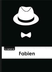 Le Carnet De Fabien - Lignes, 96p, A5 - Chapeau Et N Ud Papillon - Couverture - Format classique
