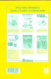 L'ATELIER DE FRANCAIS ; CE1 ; livre du maître - 4ème de couverture - Format classique
