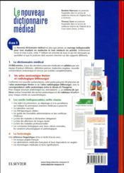 Dictionnaire médical - 4ème de couverture - Format classique