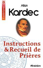 Instructions et recueil de prières - Couverture - Format classique