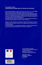 Le guide du maire (édition 2008) - 4ème de couverture - Format classique