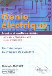 Genie Electrique Exercices Et Problemes Corriges Electrotechnique Electronique De Puissance Iut Bts - Intérieur - Format classique