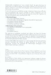 Genie Electrique Exercices Et Problemes Corriges Electrotechnique Electronique De Puissance Iut Bts - 4ème de couverture - Format classique