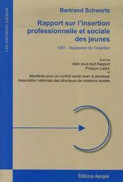 Rapport sur l'insertion professionnelle et sociale des jeunes - Intérieur - Format classique