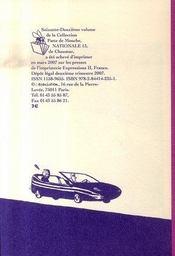 Nationale 13 - 4ème de couverture - Format classique