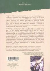 Voyage au mexique, 1858-1861 - 4ème de couverture - Format classique